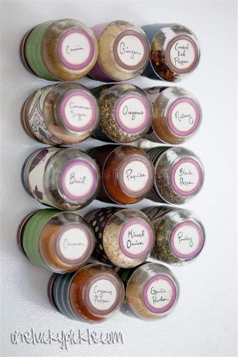 diy magnetic spice rack baby food jars 8 diy spice rack ideas to spice up your kitchen