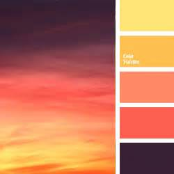 color of orange sunset color palette ideas