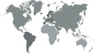 world map with regions