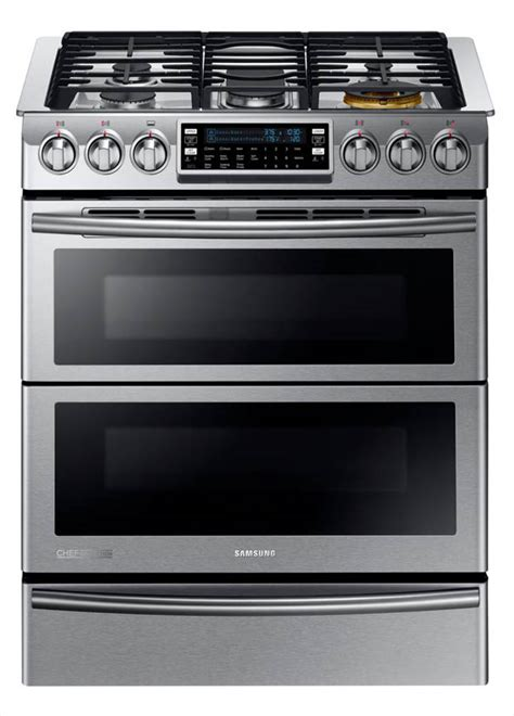 Door Range by Samsung 30 In 5 8 Cu Ft Slide In Dual Door Oven