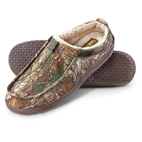 camo slippers guide gear deer c s camo moccasins 648653