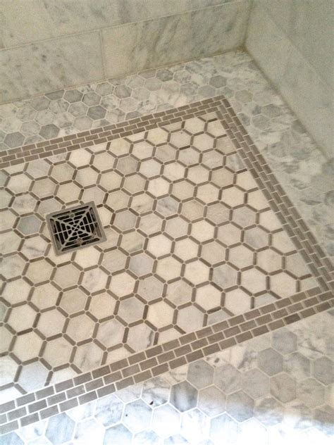 shower floor tile ideas bathroom contemporary with accent