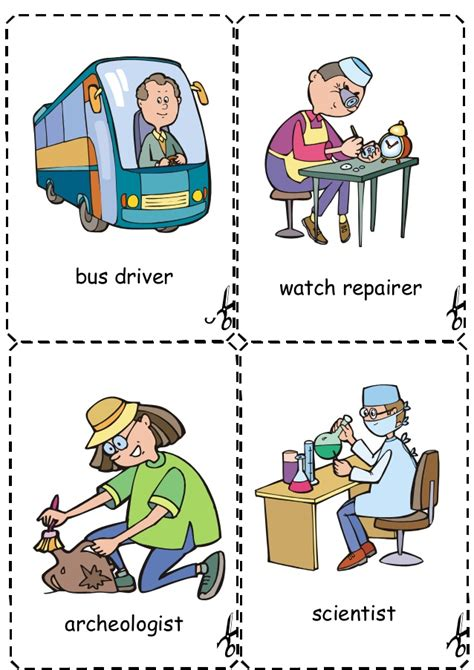 printable flash cards jobs jobs flashcards