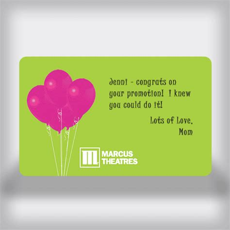 Movie Gift Card Balance - marcus theatres all occasion custom movie gift card balloon edition
