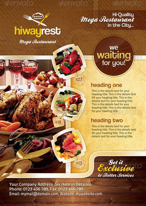 flyers design templates for restaurant 18 best dise 241 os images on pinterest flyer design