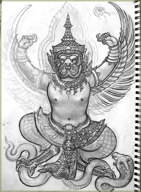 easy tattoo thai garuda drawing zatarn pinterest drawings