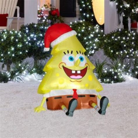 discount spongebob christmas inflatable yard decorations