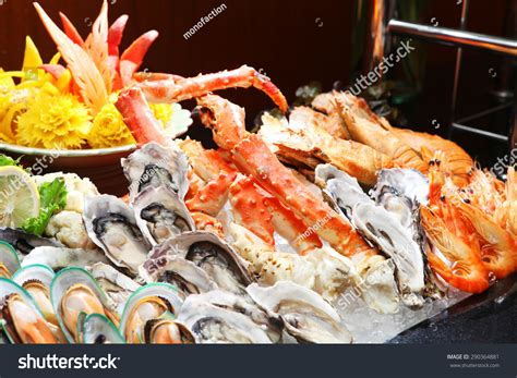 seafood buffet oysters and crab seafood buffet line oyster and alaska king crab in hotel