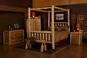Corner Bed Frame Cedar Log Canopy Bed Minnesota Log Furniture Rustic