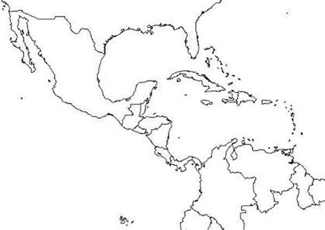 map outline of central america maps of dallas blank map of central america