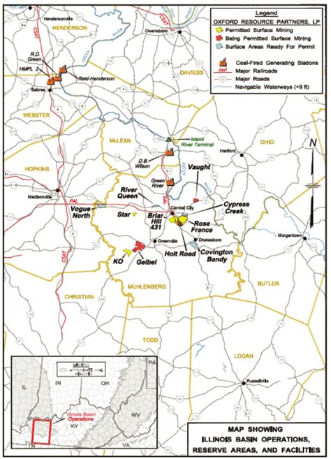 map of illinois basin coal mines westmoreland resource partners lp form 10 k march 18