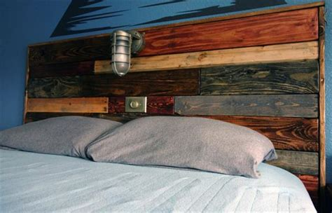 Size Pallet Bed Plans by Diy Pallet Headboard With Lights Pallet Furniture Plans
