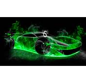 TS Green Fire Abstract Car 2013 HD Wallpapers Design By Tony Kokhan