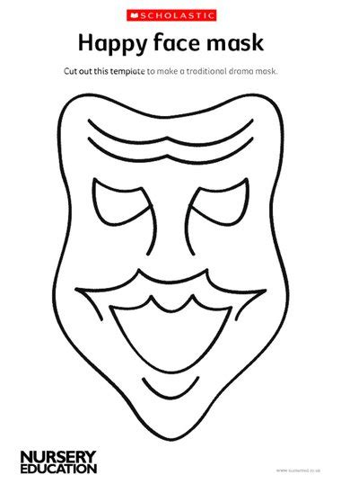 Theatre Mask Outline by Ask Theme Image Theater Mask Template