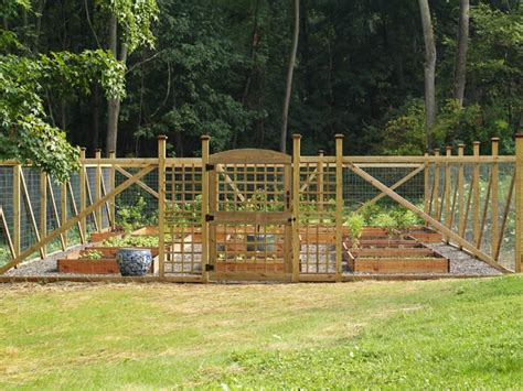 vegetable garden fence gate  methods