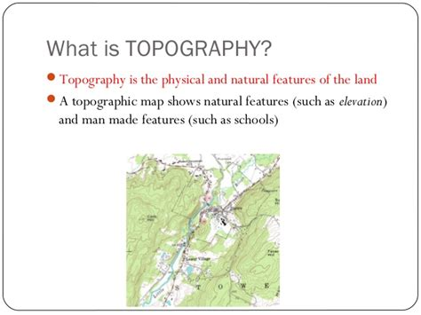 what is a topographical map topography powerpoint