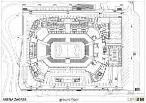 basketball arena floor plan arena zagreb openbuildings