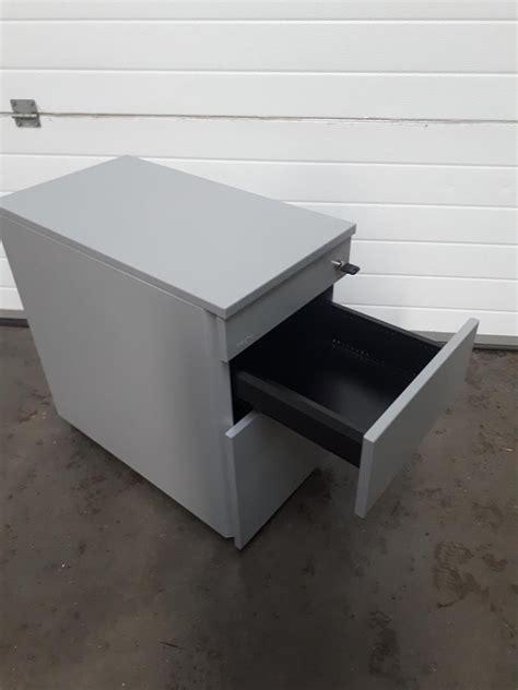 gray desk with drawers grey techo under desk pedestal 3 luof