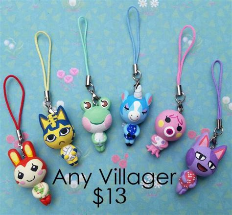 Wii Earringsphone Charm by Any Animal Crossing Character Charm On A Cell Phone By
