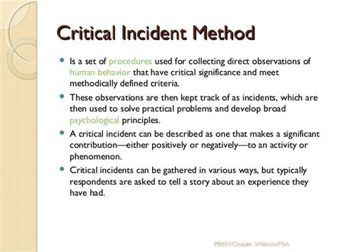 Essay On Job Analysis Critical Incident Procedure Template