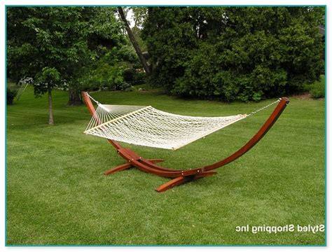 2 person hammock with wooden stand
