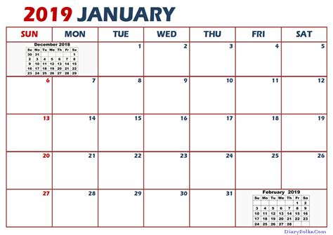 january 2019 calendar printable january 2019 calendar letter calendar