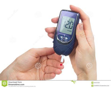Accu Lu Emergency glucometer measure a glucose blood level stock photo