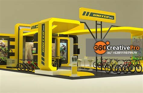 layout stand pameran 360 creativepro booth design united1 dunia eo jakarta