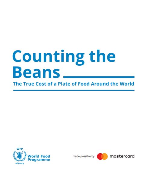 The Cost Of Beans by Counting The Beans The True Cost Of Food Around The World