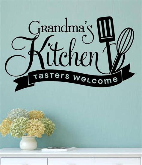 grandmas kitchen tasters  vinyl wall decals