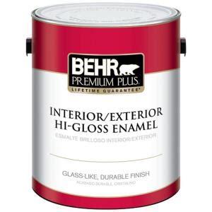 home depot gallon of paint behr premium plus 1 gal ultra white hi gloss enamel