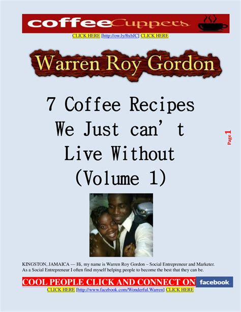 7 Technologies We Cant Live Without by 7 Coffee Recipes We Just Can T Live Without By Warren