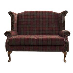 Green Velvet Fabric For Upholstery Armchair Sofa In A Red Green Tartan Fabric Ebay