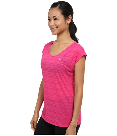 sleeve fit top nike dri fit cool sleeve top in pink