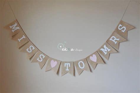 Wedding Shower Banner Template by Miss To Mrs Burlap Banner Bridal Shower Sign Burlap