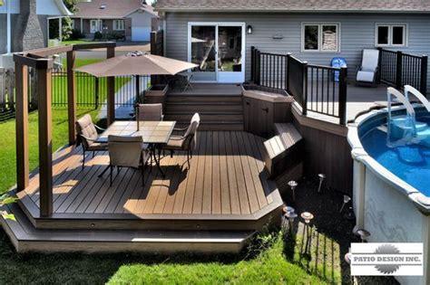 patio avec piscine hors terre transformation de meubles