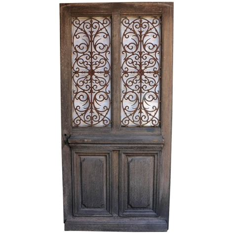 Antique French Oak Front Door With Cast Iron Grills At 1stdibs Antique Front Door