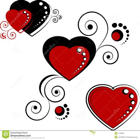 hearts design elements royalty free stock photo image