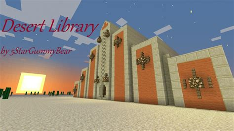 minecraft how to build a library youtube desert library a minecraft original build by