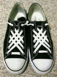 Sepatu Bowie 20 best shoelace patterns images on shoelace