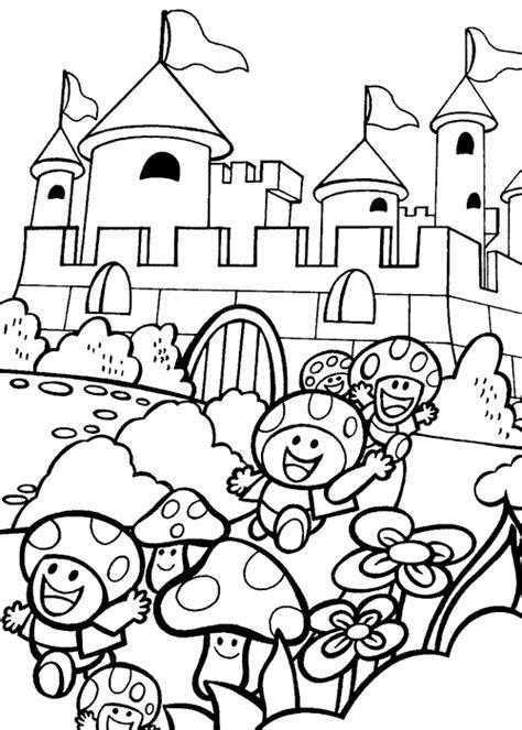 mario castle coloring pages coloring mario s castle picture