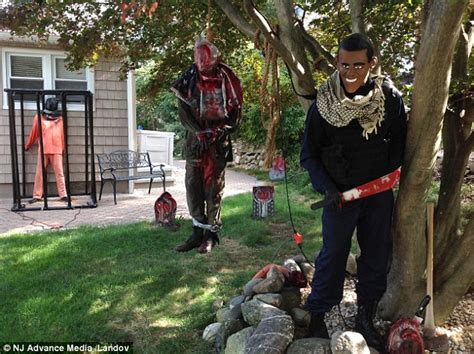 Gingerbread Lawn Decorations by Anti Isis Halloween Decorations Featuring A Terrorist