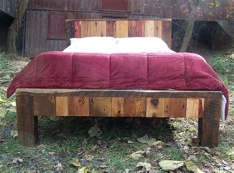 Barn Wood Bed Frames Size Bed Frame From Reclaimed Barn Wood
