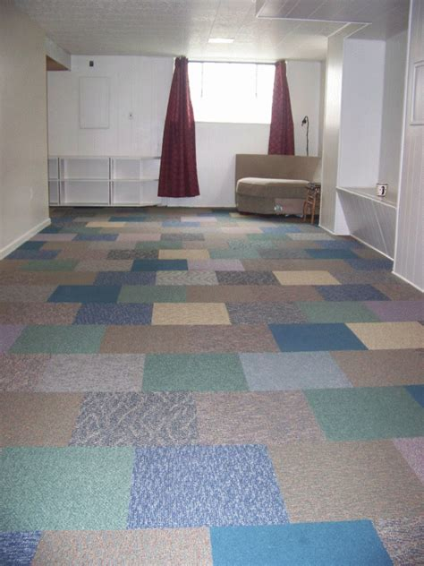 carpet tiles for basement home decorating ideas