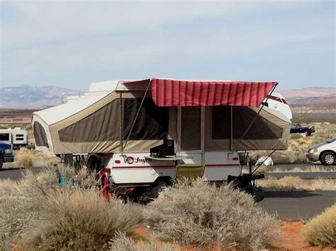 tent trailer awnings starling travel 187 my homemade awning on a jayco tent trailer