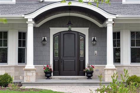 front door view custom arched top mahogany wood front entry door with