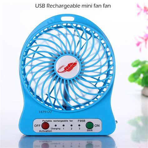 4 personal rechargeable fan usb fan mini electric personal fans led portable