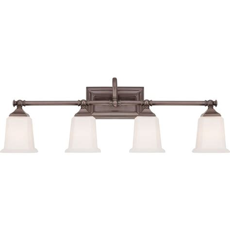 Quoizel Bathroom Lighting Quoizel Nl8604ho Harbor Bronze Nicholas 4 Light 31 Quot Wide Reversible Bathroom Vanity Light With