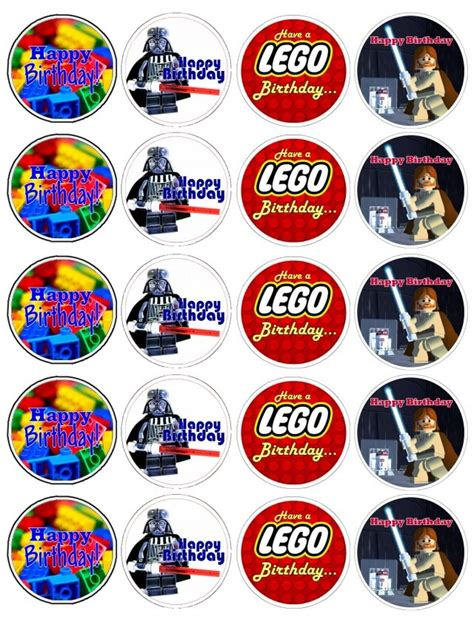 printable lego star wars cupcake toppers lego cupcake topper printables cupcake toppers pinterest