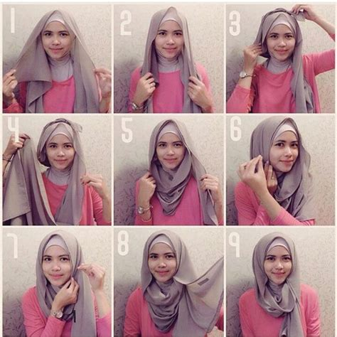 inspirasi tutorial hijab segi empat terbaru